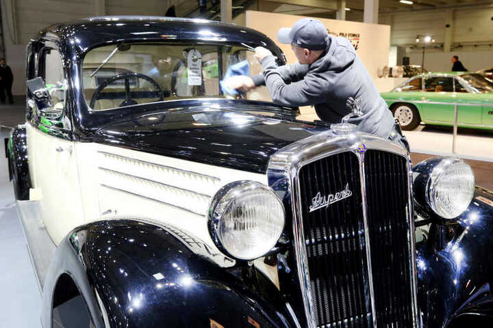 Dieser Skoda Superb 640 von 1934 ist eines der älteren Fahrzeuge auf der Automesse.