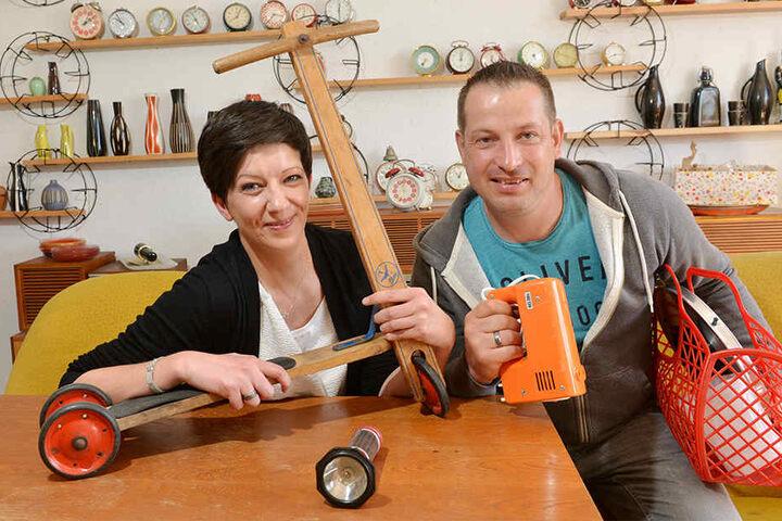 Haben fette Beute gemacht: Sandra Jonack (32) und Matthias Fuchs (41).