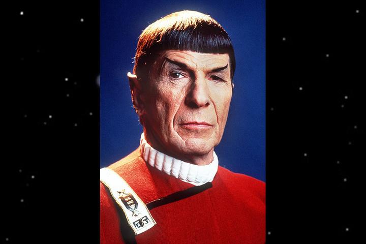 """Das Foto zeigt den US-amerikanischen Schauspieler Leonard Nimoy als """"Mr. Spock""""."""