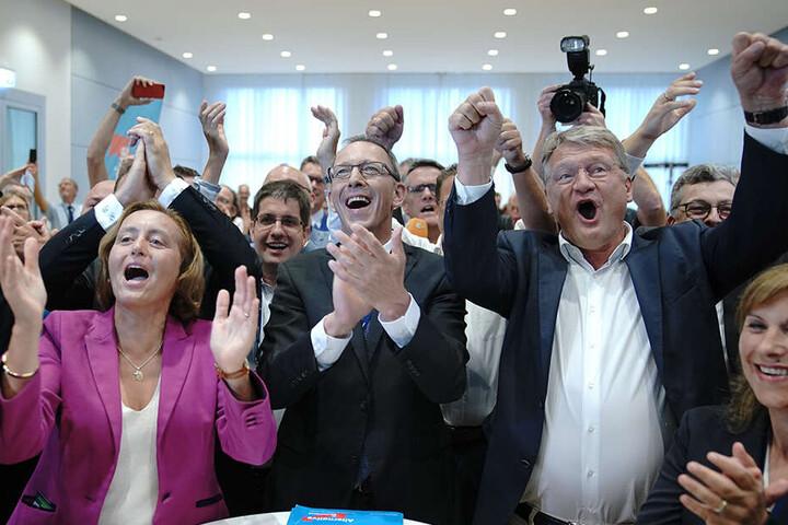 Feierstimmung bei der AfD.