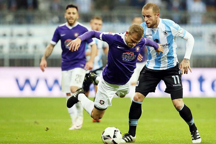 Adler gegen Löwe: Nicky Adler zeigt (l.) zeigt gegen Levent Aycicek vollen Einsatz. Der ist heute wieder gefragt.