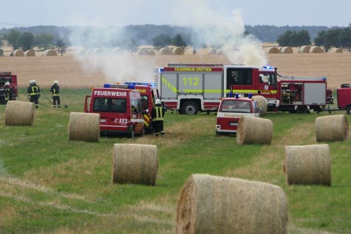Bei Pomßen in der Nähe von Grimma war der Brand ausgebrochen.