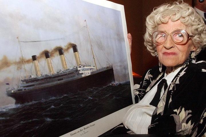 """Elizabeth Gladys """"Millvina"""" Dean überlebte 1912 den Untergang des Passagierschiffs. 2009 verstarb sie als letzte Überlebende der Titanic."""