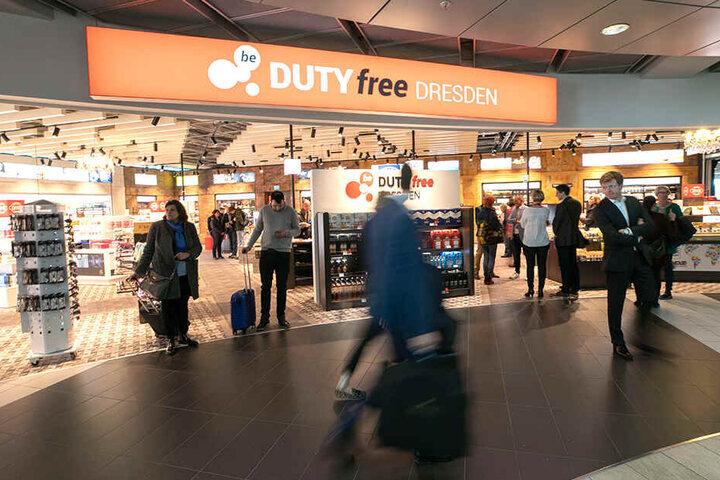 Der Eingang zum neuen Shop am Dresdner Flughafen.