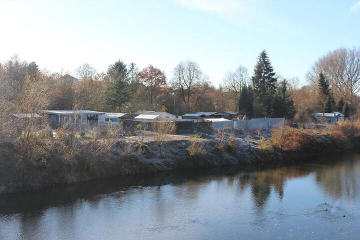 Die Siedlung erstreckt sich entlang der Werre in Löhne.