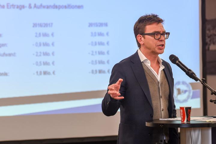 Neu-Geschäftsführer Markus Rejek erklärte das Sanierungskonzept des Vereins.