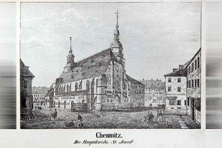 Hier liefen früher Menschen mühevoll mit Schubkarren an der St. Jacobikirche entlang.