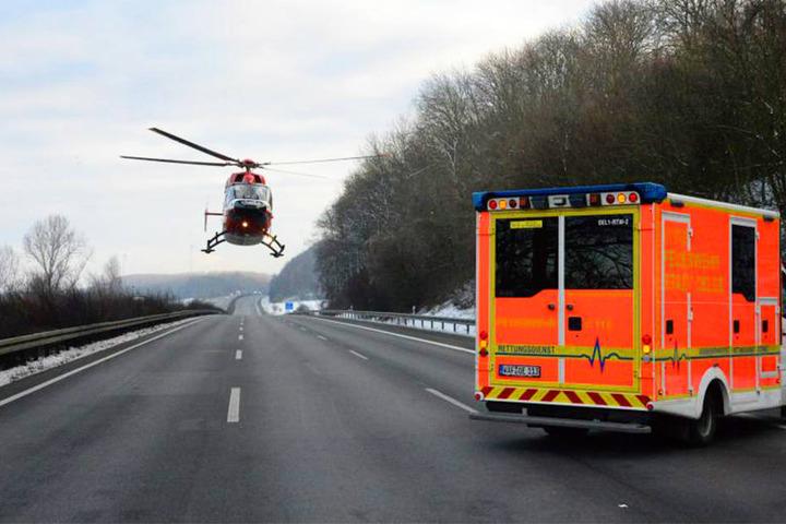 Der 30-jährige Opel-Fahrer musste mit dem Rettungshubschrauber ins Krankenhaus gebracht werden.