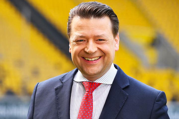 Dynamo-Präsident Holger Scholze.
