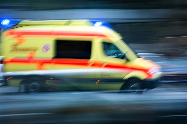 Schwerverletzt kam die Person ins Krankenhaus.