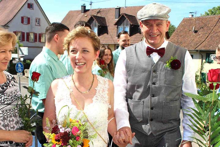 Selina (31) und Hans-Uwe Läufer (53) hat die Stammzellspende auch privat ins Glück geführt.