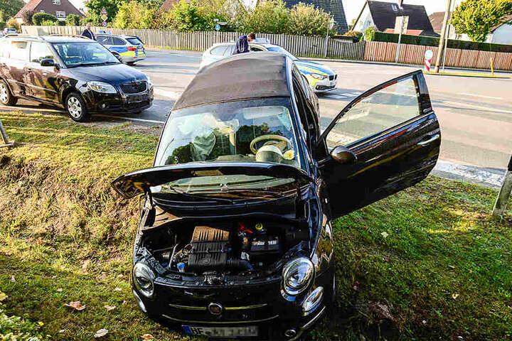 Die 23-jährige Fahrerin erlitt ein Schleudertrauma.
