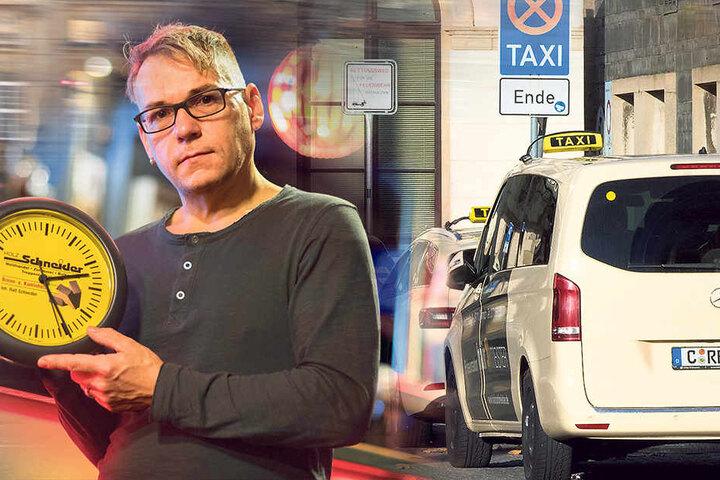 Fuchsbau-Betreiber Karsten Kluge (45) ärgert sich, dass seine Gäste nachts nur schwere in Taxi bekommen.
