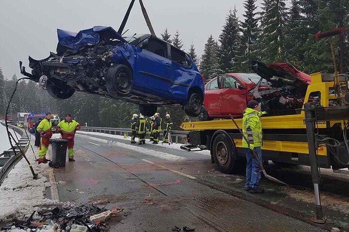 Bei dem Unfall gab es zwei Schwerverletzte.