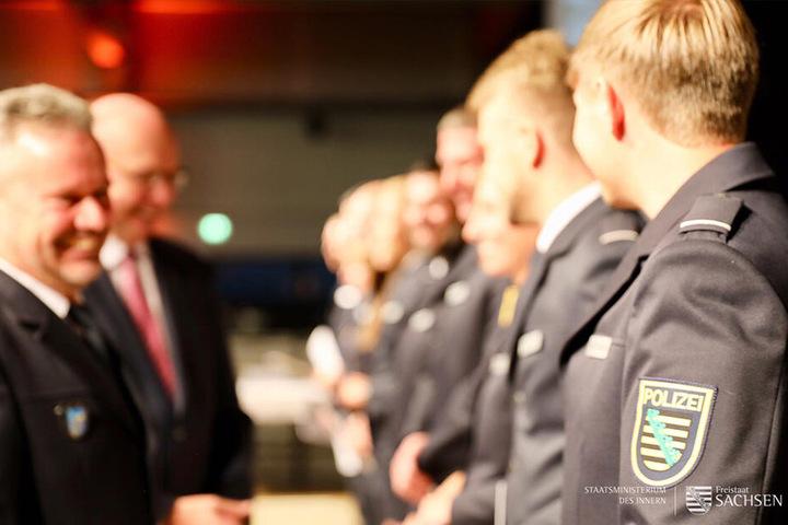 In Rothenburg werden auch angehende Kommissare ausgebildet - hier bei einer Ernennung.
