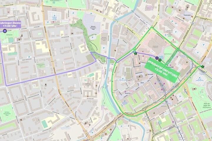 Am Freitag startet die Bewegung 11.30 Uhr am Andreplatz in Richtung Innenstadt.