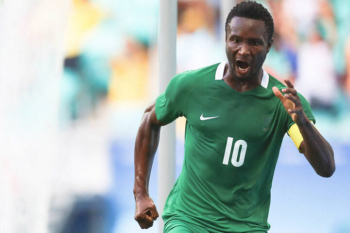Mikel John Obi (29) ist momentan für das nigerianische Fußball-Team bei Olympia im Einsatz.