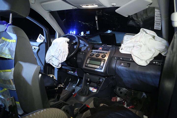 Am VW Touran entstand ein Sachschaden von etwa 20.000 Euro.