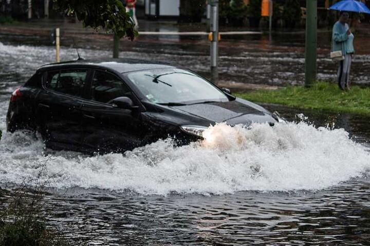 Nach heftigen Regenfällen gab es in diesem Jahr schon mehrere Überschwemmungen in Berlin.