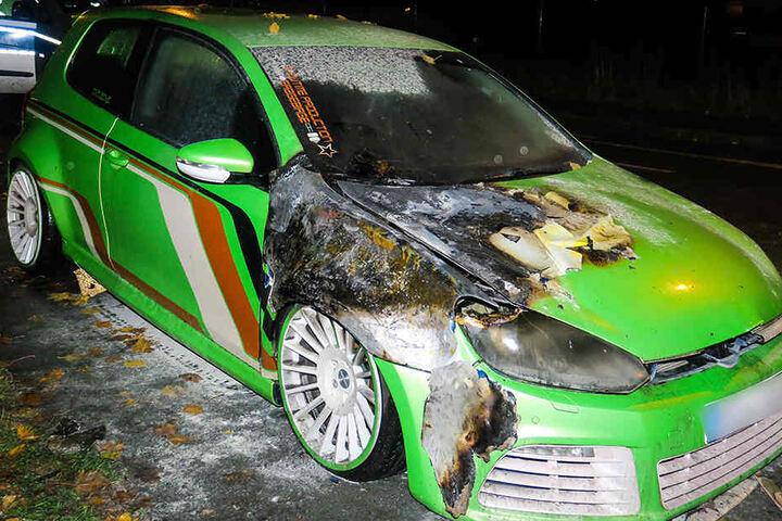 Der Brand am VW konnte recht schnell gelöscht werden.