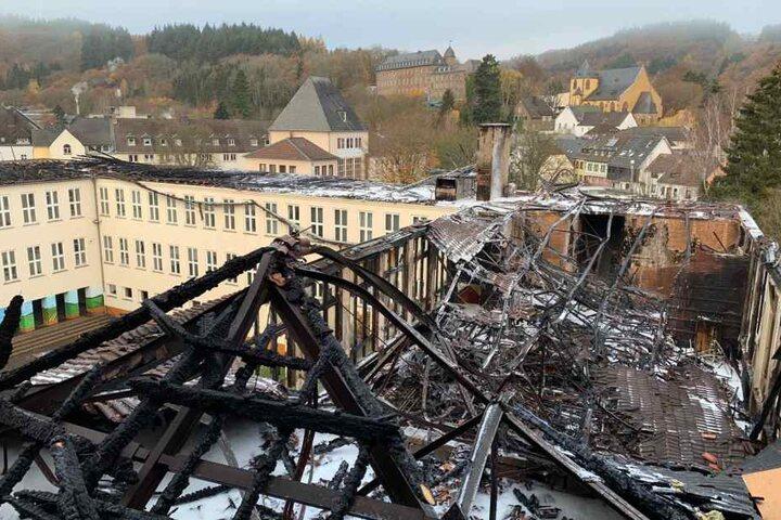 Beim Feuer am 16. November war am Schleidener Gymnasium ein Sachschaden in Millionenhöhe entstanden.
