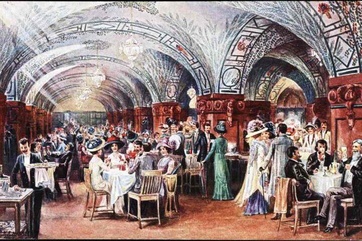 So edel ging's einst im Dresdner Ratskeller zu. Nicht nur das Essen dort war exquisit, er beherbergte bis zu seiner Zerstörung 1945 auch das vermutlich beste Weinlager der Stadt.