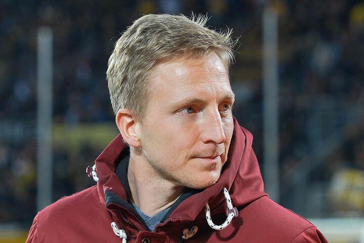 Der gelbgesperrte Kapitän Marco Hartmann konnte nur in Zivil zuschauen.