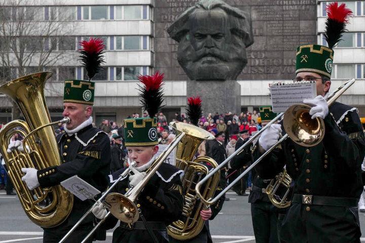 Die Bergparade in Chemnitz war die größte des Landesverbandes in 2016.