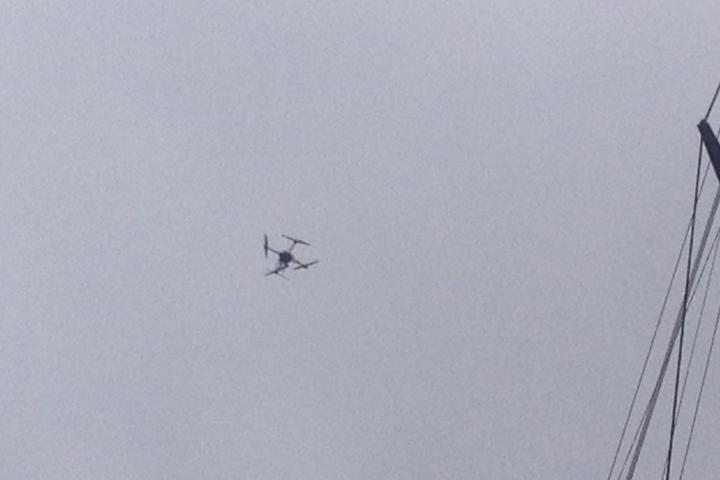 Drohne der Polizei.