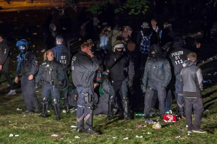 Die Bereitschaftspolizei war mit 70 Beamten vor Ort.