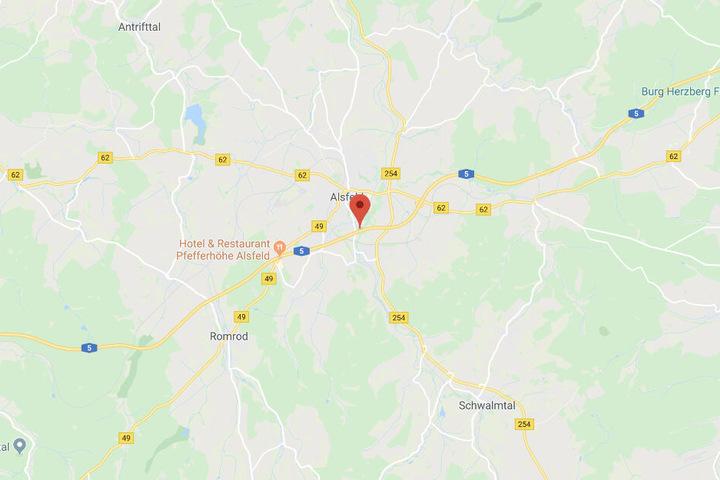 Der Vorfall ereignete sich auf der A5 nahe Alsfeld.
