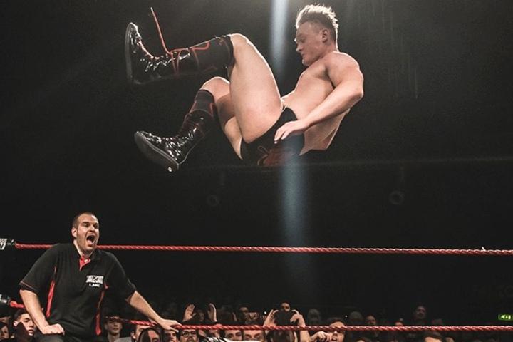 """Ilja in Action: """"Wrestling ist nicht nur ein Showsport"""", so der 24-Jährige."""