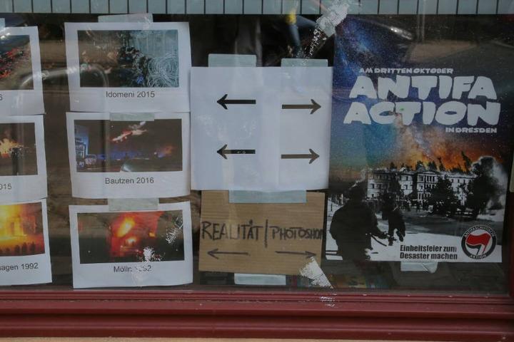 Das Gewalt-Plakat war von eher linksaußen stehenden Mitmietern aufgehängt worden.