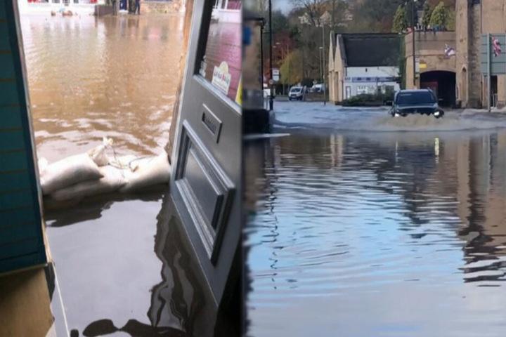 Der Laden und ganz Matlock standen am Eröffnungstag unter Wasser.