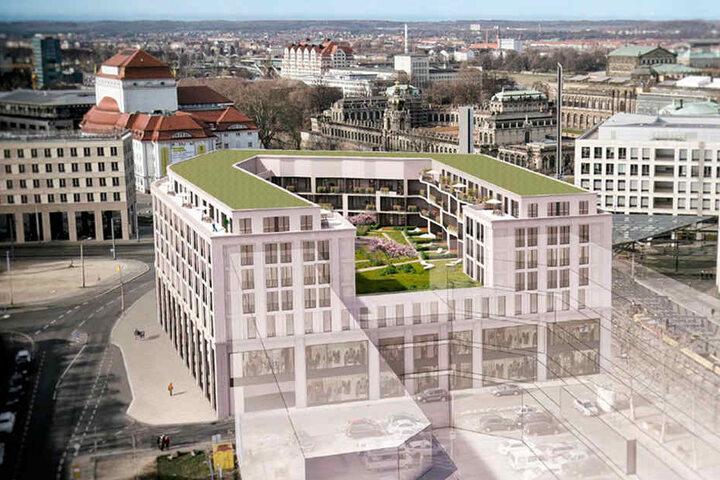 So soll der Neubau an der Postplatzspitze einmal aussehen.