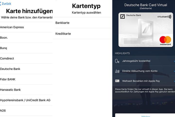 Im nächsten Schritt kann man die Bank wählen, dann wird man zur App der Bank weitergeleitet, dann läuft alles in diesem Bereich ab.