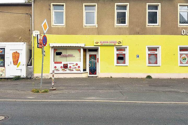 Vor diesem Imbiss in Chemnitz-Grüna geschah die Bluttat.