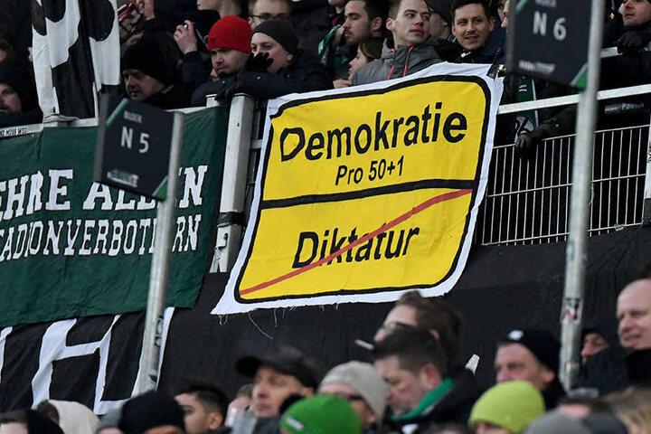 In letzter Zeit hatten vor allem Anfeindungen gegen Hannover-96-Geschäftsführer Martin Kind und die 50+1-Regel bei den Fans für Ärger gesorgt.