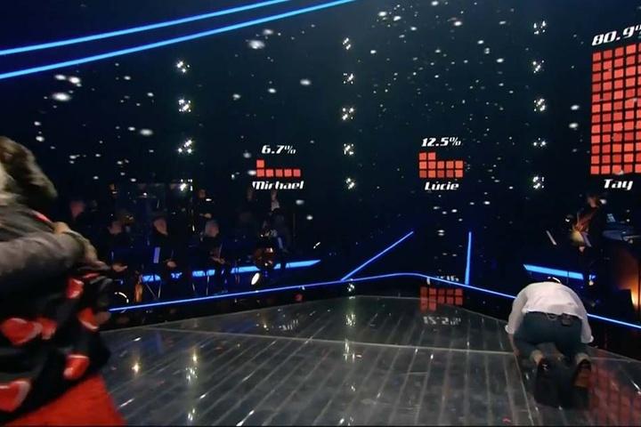 Am Ende siegte Tay im Halbfinale mit 81 Prozent der Zuschauerstimmen.