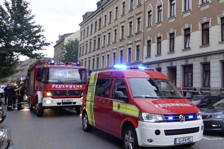 Feuerwehreinsatz in der Lohrstraße.