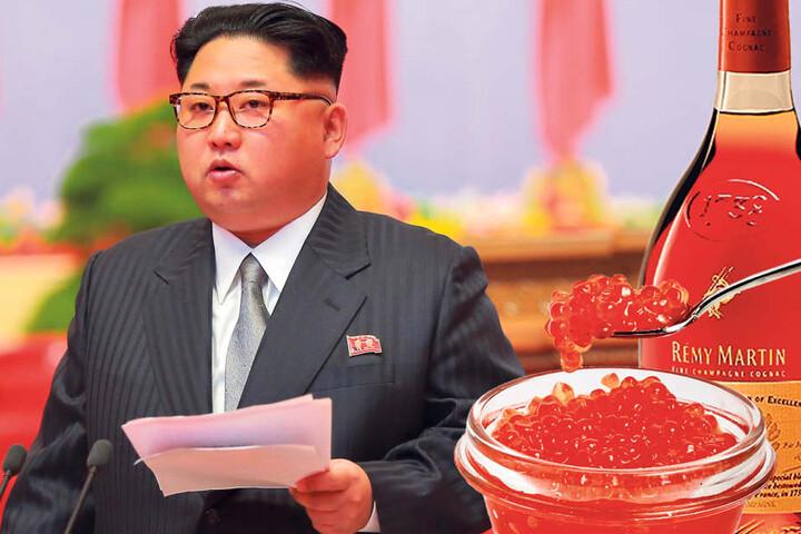 Das Land von Diktator Kim Jong-un (33) ist mit einem Handels-Embargo belegt.  Darunter fallen auch Kaviar und Alkohol.