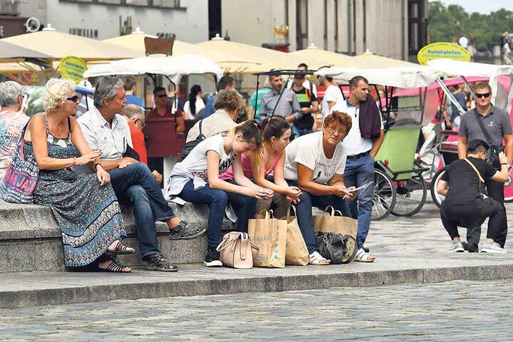 Dresden zieht wieder mehr Touristen an.