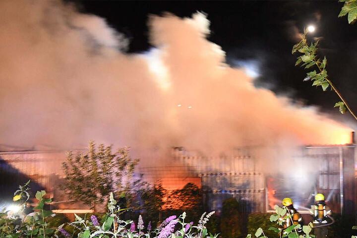 Es bildete sich eine extremer Rauch.