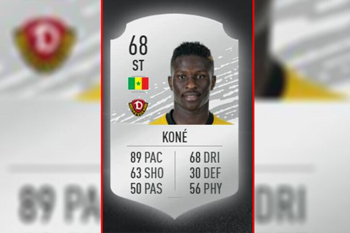 Moussa Koné kommt auf ein Rating von 68.