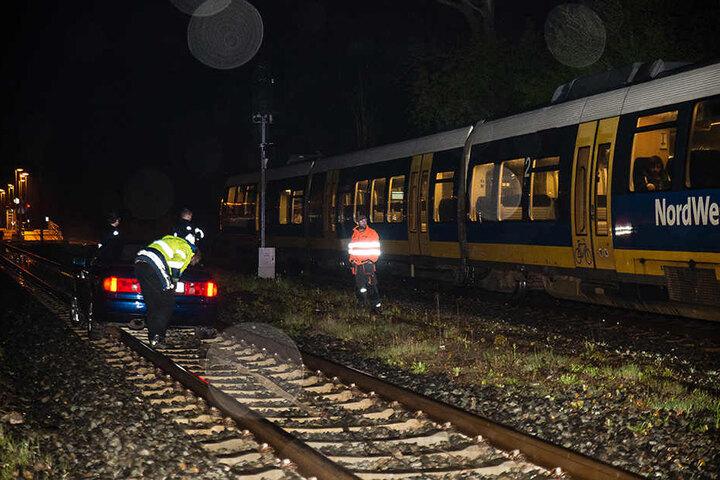 Die Strecke der Nord-West-Bahn ist zum Glück wenig befahren.