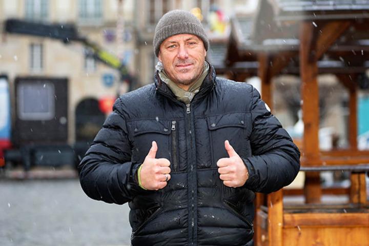 Ist guter Hoffnung: Veranstalter Thorsten Wieland (45).