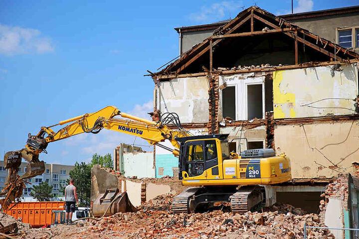 Im Mai 2016 hatte der Abrissbagger sein Werk fast vollendet.
