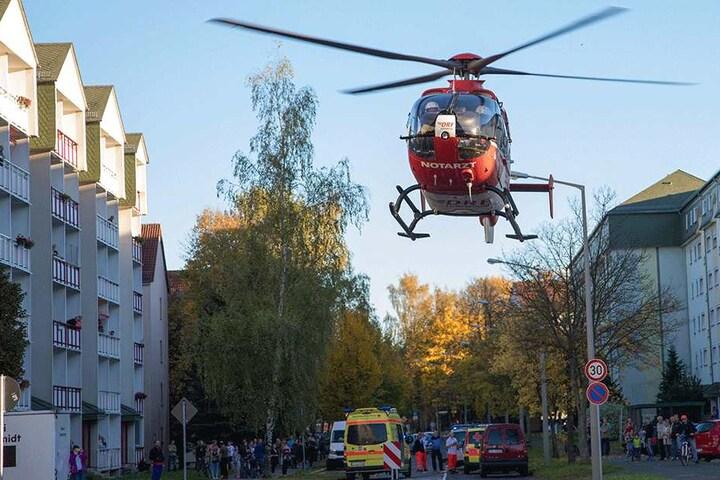 Ein Rettungshelikopter kam zum Einsatz.