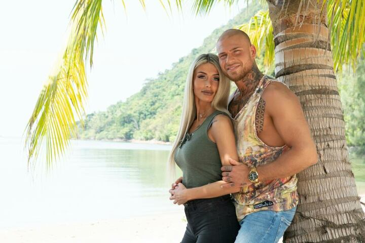 Gingen als (zumindest augenscheinlich) glückliches Paar auf die Insel: Christina Dimitrou und Salvatore Vassallo