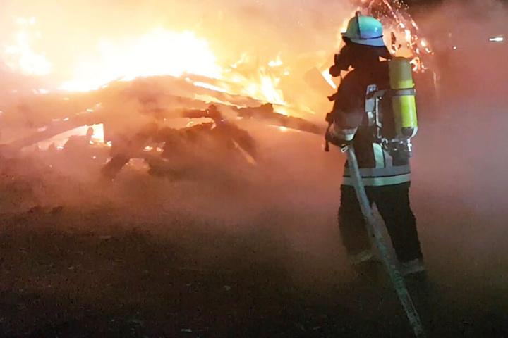 Die Feuerwehr konnte ein Übergreifen der Flammen auf einen angrenzenden Wald verhindern.